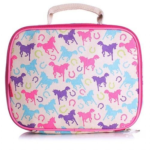 Milly Green Ponies Canvas Lunch Bag